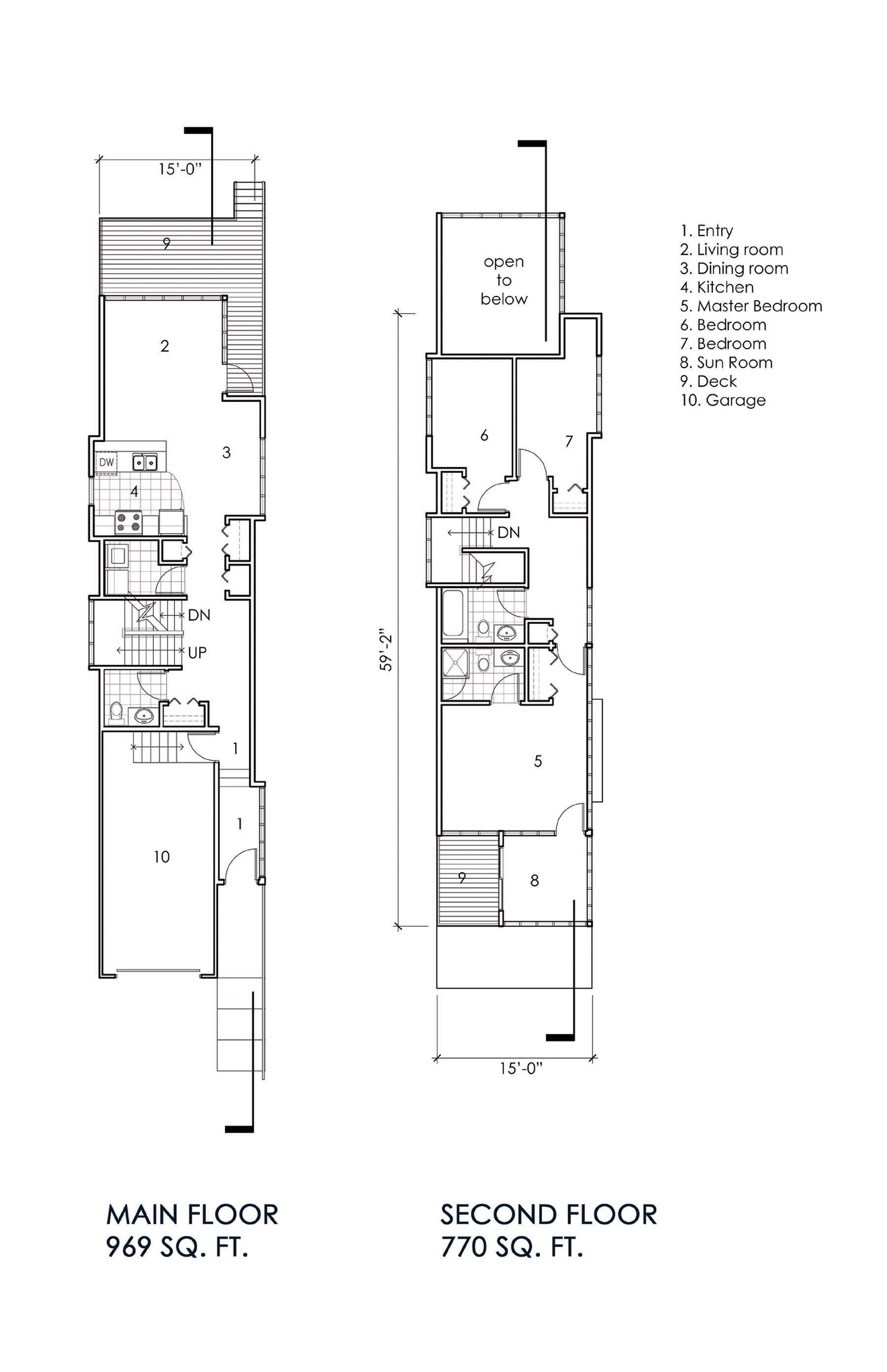 Narrow lot house portland oregon for Award winning narrow lot house plans